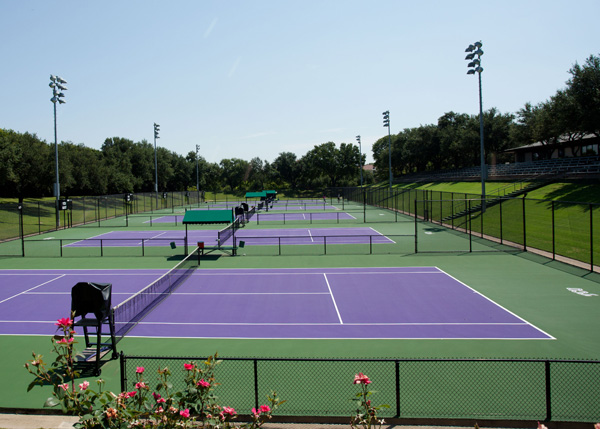 "Bernard J. ""Tut"" Bartzen Varsity Tennis Courts"