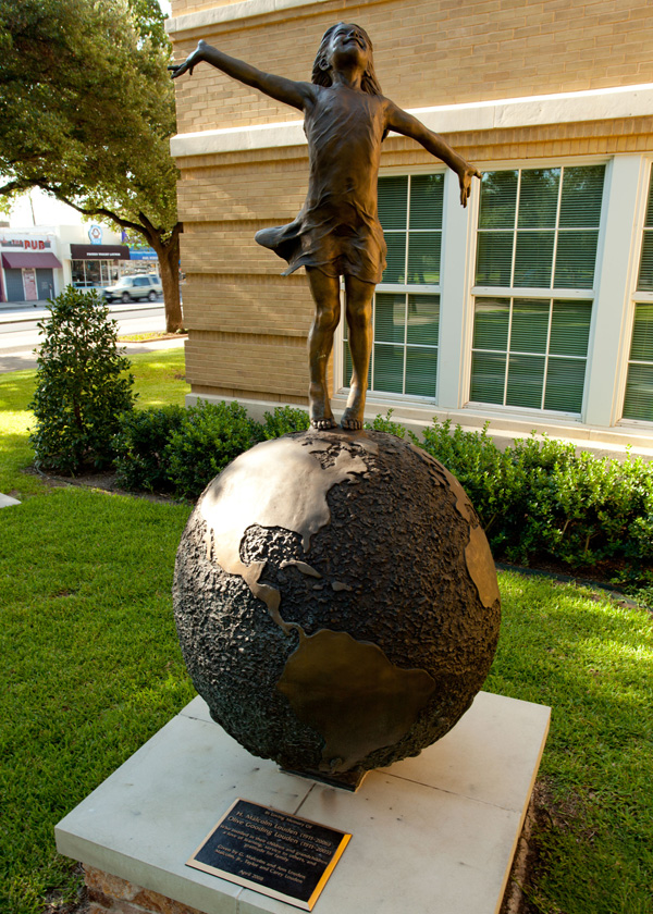 Teaching to Change the World Statue