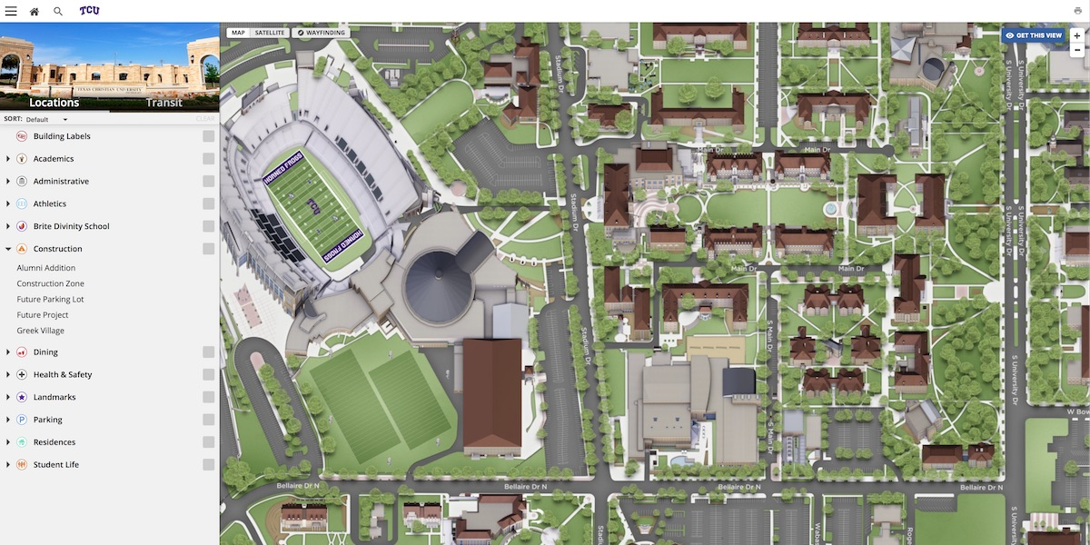 TCU Interactive Map